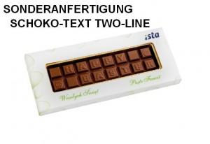 Sonderanfertigung Schoko-Text Two-Line
