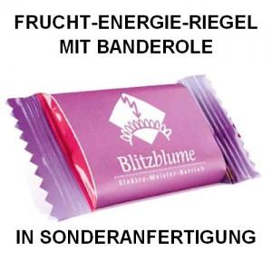 Frucht-Energie-Riegel mit Banderole in Sonderanfertigung, Werbeartikel-Sonderanfertigung