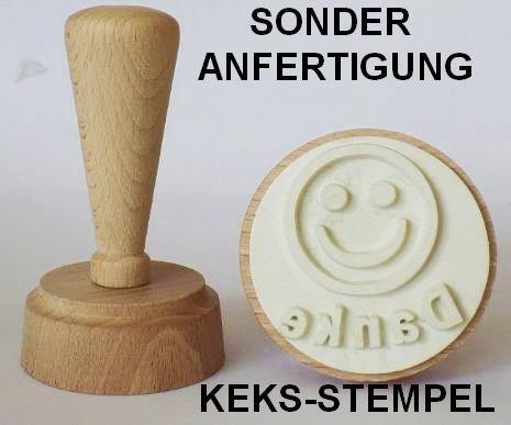 Werbeartikel-Sonderanfertigung Keks-Stempel in Sonderform mit Logo oder Slogan