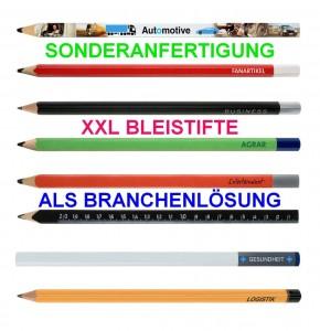 XXL-Bleistift als Sonderanfertigung für jede Branche