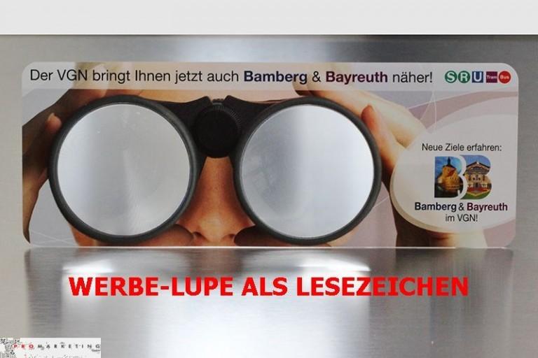 Sonderanfertigung Lupen-Lesezeichen mit Doppellupe, Werbe-Lupe als Werbeartikel-Sonderanfertigung