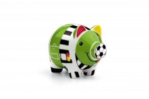 Sparschwein in Fussball-Design