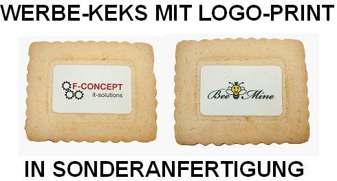 Werbe-Keks mit Logo-Print in Sonderanfertigung, Werbemittel-Sonderanfertigung, Werbeartikel in Kleinauflage, Werbe-Keks in Sonderform,