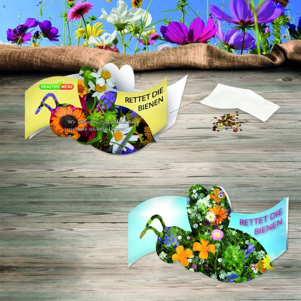 Bienen Klappkärtchen
