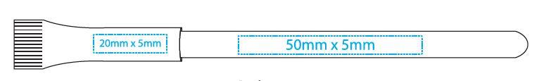 Druckgröße Papierkugelschreiber