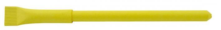 Gelber Papierkugelschreiber
