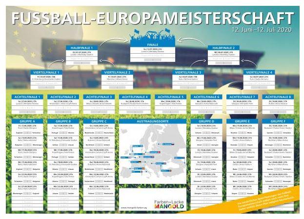 Spieltermine der Fußball-Europameisterschaft im Poster-Format