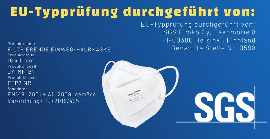 FFP-2-Masken CE zertifiziert