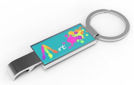 Schlüsselanhänger mit großer Werbefläche