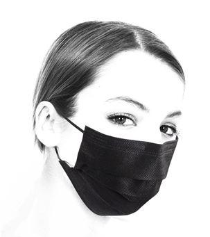 Schwarze OP-Maske