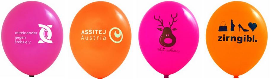 Luftballons mit Werbe-Aufdruck