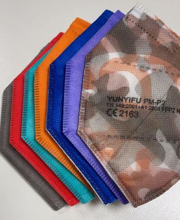 CE-zertifizierte FFP2-Masken in verschiedenen Farben