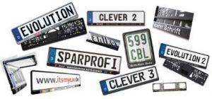 Nummernschildhalter mit Logo-Aufdruck