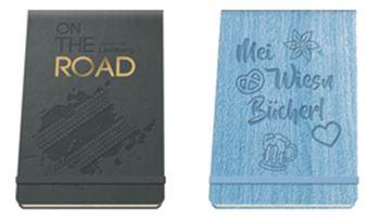 Hardcover Notizbücher mit Blind- und Folienprägung