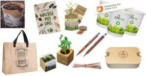 Bio-, Öko-, Fairtrade-zertifizierte Werbeprodukte