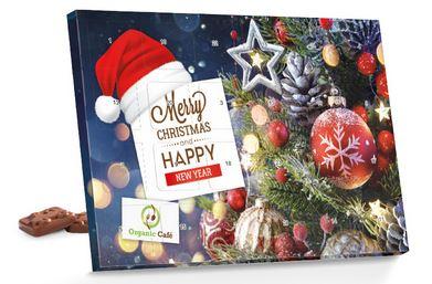 Schokoladen-Adventskalender zu Werbezwecken